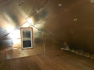 A Stroudsburg attic with SuperAttic installed.