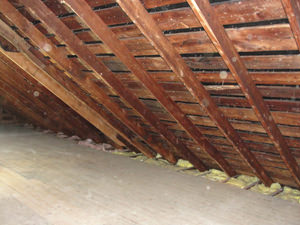 A PA attic before installation of SuperAttic