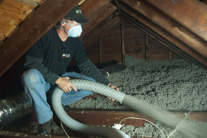 Cellulose Insulation Installation In Northeastern PA