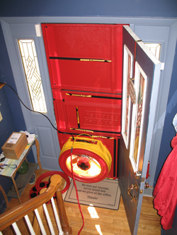 Blower door test for East Stroudsburg homes