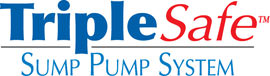 Sump pump system logo for our TripleSafe™, available in areas like Swiftwater